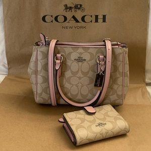 Coach Mini Surrey Carryall Satchel & Wallet Set